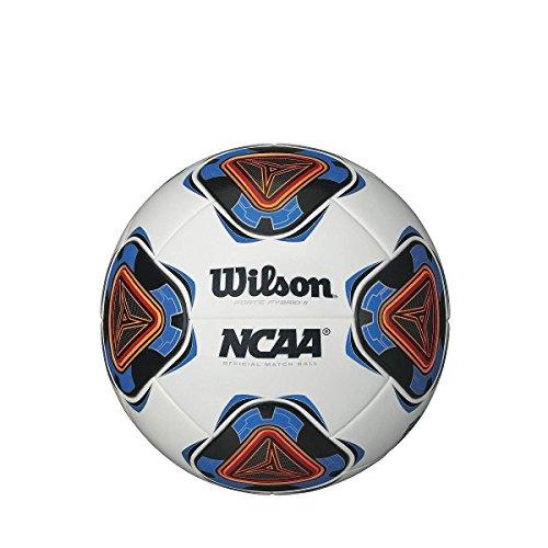 Wilson Forte Fybrid II, Pallone da Calcio Unisex - Adulto, Bianco/Blu, Taglia Unica