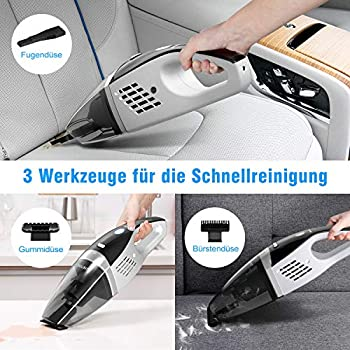 ZIGLINT Cordless Handheld Vacuum Cleaner, Rechargeable 4 in 1 Wet and Dry Car Vacuum Cleaner with 9000 Pa Powerful Suction, Lightweight Design with 40 Mins Runtime for Home and Car