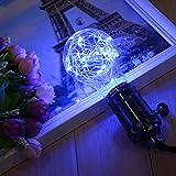GreenSun LED Lighting Edison E27 LED Lampe Glühlampen Deko A60 Vintage Globe Glühbirne mit Blaulicht Lichterkette Leuchtmittel für Hängelampe Wandleuchte Pendelleuchte