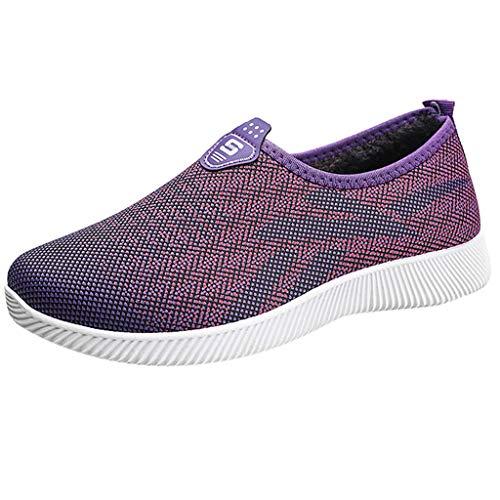 Toasye Damen Sneakers, Damen Slip-On atmungsaktives Mesh-Outdoor-Kausal-Schuhe