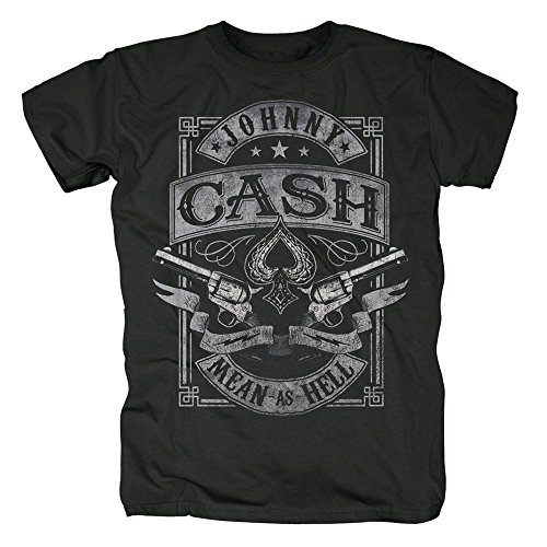 Johnny Cash Herren T-Shirt - Mean as Hell (XXL)