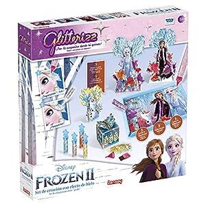 Toy Partner- GLITTERIZZ Frozen II Set MÁGICO, con Purpurina Y Pincel, Multicolor (23026)