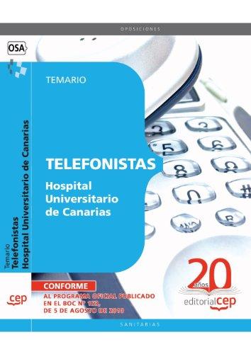 Descargar Libro Telefonistas Hospital Universitario de Canarias. Temario (Colección 1560) de Sin datos