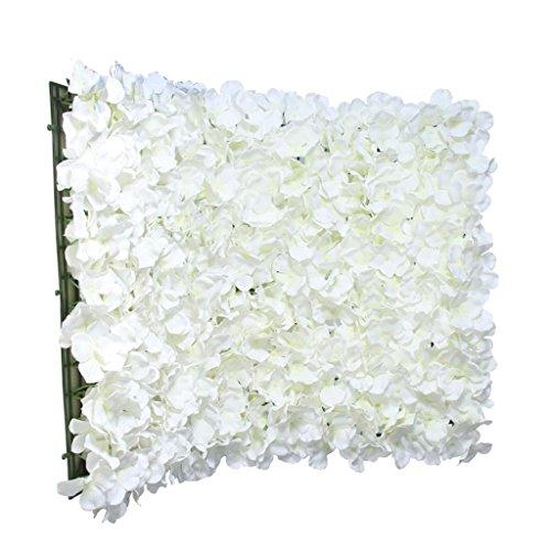 Blumen-wand (MagiDeal 40× 60cm Große Künstliche Blumen, Wand /Hochzeit /Fotohintergrund Deko - Sahne)