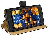 mumbi Ledertasche im Bookstyle für Microsoft Lumia 640 Tasche