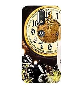 99Sublimation Midnight Clock 3D Hard Polycarbonate Designer Back Case Cover for Motorola Moto G4 Plus
