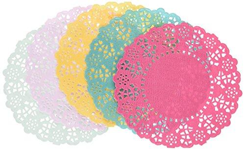 l Fiesta; Spitzendeckchen aus Papier für Teekränzchen, Luau (Hawaiparty) und Geburtstagspartys, 5 Farben (100 pro Pack) ()