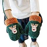 Kinder Handschuhe 1-2 Jahre alt Mädchen Jungen Fäustlinge Kleinkinder Kinderhandschuhe warm weich Verdicken Fingerhandschuhe Winter Bequem Gloves mit Plüsch Fleecefutter Babyhandschuhe Outdoor Wandern
