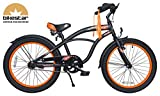 BIKESTAR-Premium-508cm-20-pulgada-Bicicleta-Premium-para-los-nios-mas-atrevidos-y-divertidos-de-6-aos–Edicin-Cruiser-de-Lujo–Negro