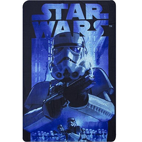 Squishybean officiel Star Wars Troppers Couverture polaire Lit simple de dimension StarWars Trooper Couverture 100 cm x 150 cm Plaid en polaire Star-Wars Couverture