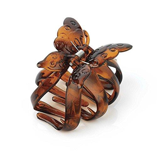 Allsorts® Haarklammer, Schmetterlingsmotiv, 7,5 cm, Braun