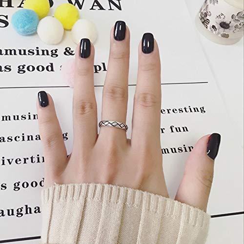 DLIAAN Ringe S925 Thai Silber Offenen Ring Mode Rhombisch Retro Punk Einstellbar Einfache Männer Und Frauen Essen Ring Schmuck