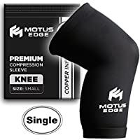 Motus Edge Copper Infused Knee Compression Sleeve for Running, Sports, CrossFit, Pain Relief, Rehab (1-pack -... preisvergleich bei billige-tabletten.eu