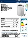 De'Longhi PAC N76 Mobiles Klimagerät (Max. Kühlleistung 2,1 kW/8.200 BTU/h, Separate Entfeuchtungsfunktion, Geeignet für Räume bis 70 m³) [Energieklasse EEK A] - 3