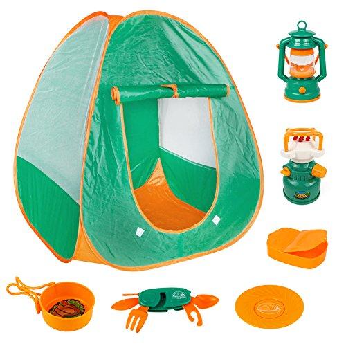 Tipi Zelt, Tipi Zelt Kinderzimmer, Camping Set Play Tent Zelten Kinder Camping Zelt Spielzeug für Kinder 3+ Jahre