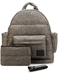 CiPU Baby Diaper Bag With 14 Compartments & 3 Bag Accessories Including Pouch - Weightless On Your Shoulder &...