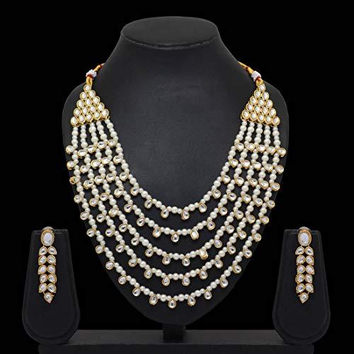 Jaipur Mart Jewellery Set for Women (White)(KN201WHT)