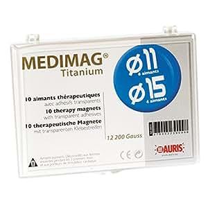 Medimag Titanium mixte - 6 aimants 11mm + 4 aimants 15mm + 30 adhésifs
