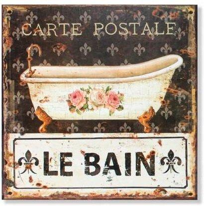 Cadre métal Salle de bain rétro - 30 x 30 cm (M2)