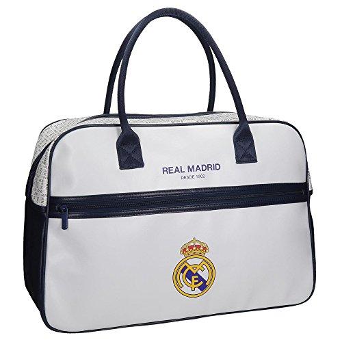 RM Real Madrid White Bolso Sport Bolso al Hombro Viaje Gimnasia