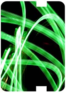 Green Neon Blur White Back Cover Case for Amazon Kindle Fire 7 HD