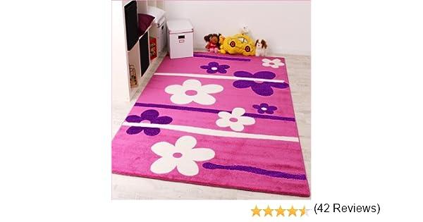 Tappeto Cameretta Lilla : Phc tappeto per bambini motivo: fiori colore: rosa lilla bianco