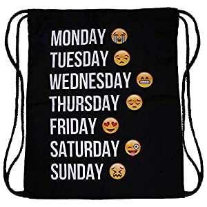 511CDT1PAqL. SS300  - hanessa Yute Bolsa Emoticono Emoticons Smiley Smilie Diseño Diseño Bolsa de Deporte Bolsa Mochila ba3329Gym Bag Mochila Hipster Fashion Sport de Bolsa