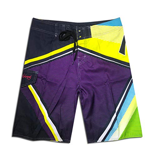 BURFLY Herren Sommer Print Strandurlaub Shorts Nähen Casual Strandhose Surf Shorts Jogginghose (80-dollar-schuhe)
