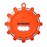 ATPWONZ 16 LED Road Flare Amber Safety Warning Light Emergency Flashing Lights with Magnetic Base