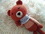 Kuscheltier Baby Teddybär personalisierte Geschenke Baby Taufgeschenke für Mädchen/Jungen Geschenk zur Geburt handmade von mir gehäkelt/ds-handmade/VERSANDFERTIG