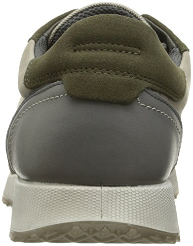 Ecco Sneak Mens, Baskets Basses Homme Multicolore (50301Grape Leaf/Moon Rock)