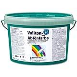 Pufas fix 2000 Volltonfarbe + Abtönfarbe 2,5 L Innen + Außen-Farbe Fassadenfarbe 929 Petrol
