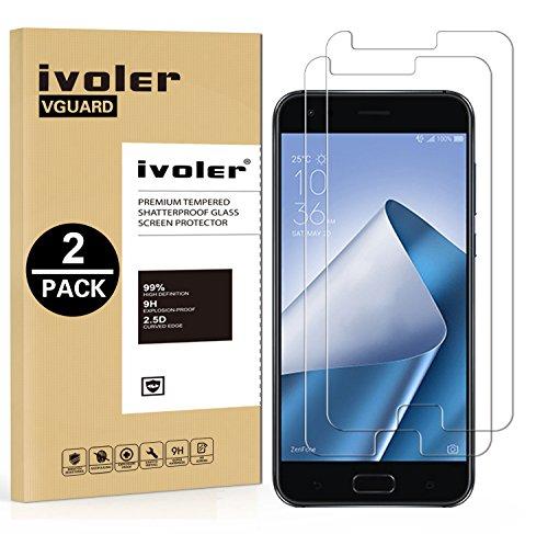 [2 Pack] Pellicola Vetro Temperato Asus Zenfone 4 ZE554KL 5.5'' [Garanzia a Vita], iVoler ** [Protezione Antigraffi] **Anti-riflesso Ultra-Clear** Ultra resistente in Pellicola Asus Zenfone 4 ZE554KL 5.5'', Pellicola Protettiva Protezione Protettore Glass Screen Protector per Asus Zenfone 4 ZE554KL 5.5''.Vetro con Durezza 9H, Spessore di 0,2 mm,Bordi Arrotondati da 2,5D