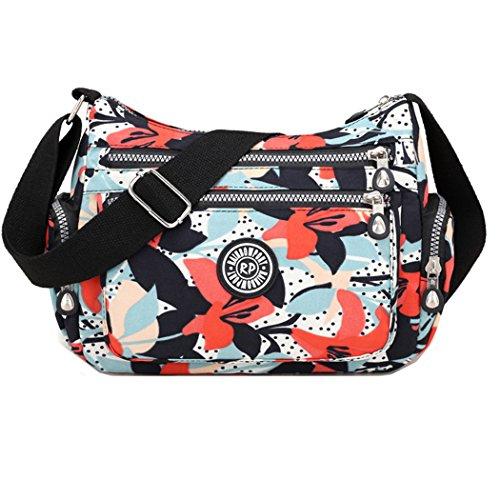 Crossbody Handtaschen Casual Schultertaschen für Frauen Wasserdichte Nylon Messenger Bags (Winde)