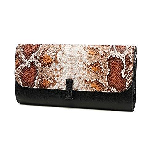 Handbeutel, weibliche Handbeutel, Art und Weisetendenzleder großer Kapazitätsfaltblatt, Bankettabendessenpaket ( Farbe : Weiß ) Orange