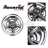 RockFox Radabdeckung, verchromt, 20,3 cm, SS-Golf Cart Felgenabdeckung, enorme Verbesserung und Top-Selling 5 Speichen-Design und Haltbarkeit für die meisten Golfwagen. 4-teiliges Set.