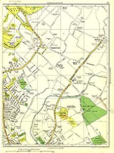 LANCS:Great Crosby,Thornton,Ford,Buckley Hill,Sefton,Litherland 1935 old map
