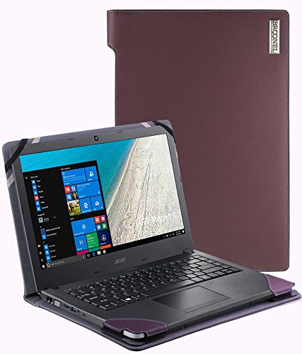 Broonel - Profile Series - Purple Leather Luxury Laptop Case For The Acer TravelMate P2510-M
