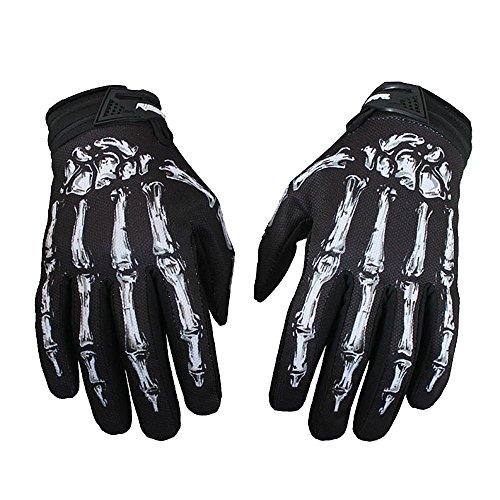 rrad Motorrad Touchscreen Skelett Handschuhe Outdoor Sport Winter Warme Skidproof Dauerhaft Winterhandschuhe für Fahrrad Motorrad Moto-Cross Größe M/L/XL Farbe Grün/Weiß ()