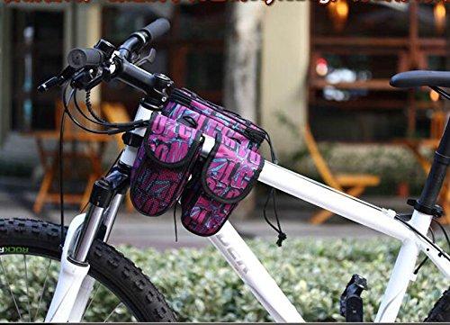 FAN4ZAME Fahrrad Front Beam Satteltasche Radfahren Ausstattung Armaturen Mauve
