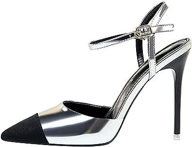 Moquite Donna 2019 Nuovo Sexy Moda Scarpe col Tacco,11cm Tacco a Spillo Sandali,Primavera ed Estate Femminile con Tacchi Alti,Dimensione 34-40 EU