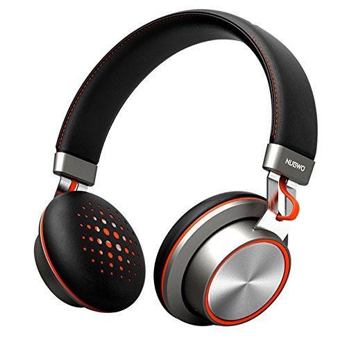 Bluetooth Kopfhörer, NUBWO S2 Wireless Headset Bluetooth auf Ohr Stereokopfhörer mit Mikrofon Hi-Fi Deep Bass, 14 Stunden Spielzeit, tragbares Design für Reise Arbeit TV Laptop-Schwarz S2 Fall