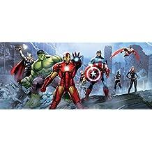 Los Vengadores - Iron Man, Capitán América, Hulk Y Héroes, Ruina Póster Fotomural (202 x 90cm)