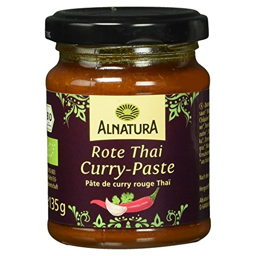 Alnatura Bio Rote Thai-Curry-Paste, 6er Pack (6 x 135 g) (Red Thai Paste Curry)