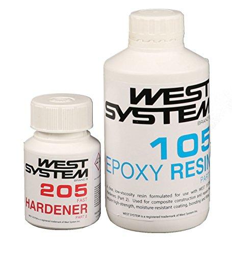 WEST SYSTEM Epoxidharz Junior Pack Pack 105-205, schneller Härter Harz (System Harz West)
