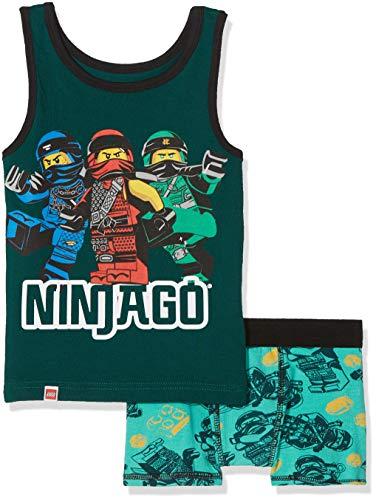 LEGO Jungen Boy Ninjago CM-73094 Unterwäsche-Set, Grün (Dark Khaki 892), 122
