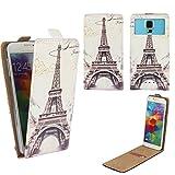 Alcatel Pixi 4 (4034D) 4 Zoll - Smartphone Klappbare Flip Tasche / Schutzhülle mit Kreditkartenfach - Flip Paris 2 Nano XS
