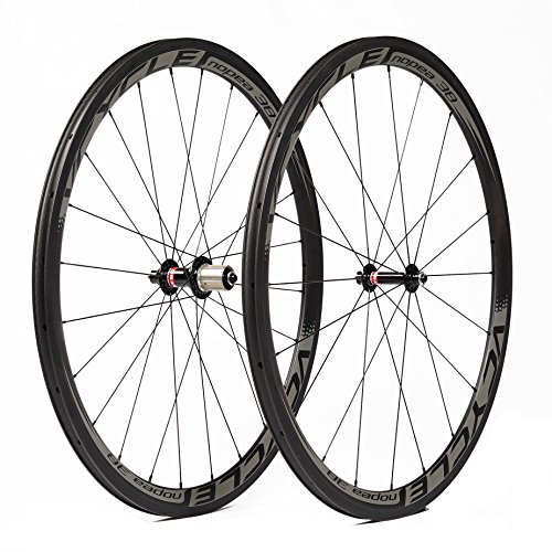 VCYCLE Nopea 700C racefiets clincher Carbon Wheel Kit 38mm 1335g alleen Shimano of Sram 8 / 9 / 10 / 11 Speed
