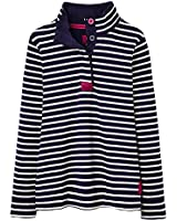 Joules Ladies Cowdray Henley Style Patterned Cotton Sweater Navy