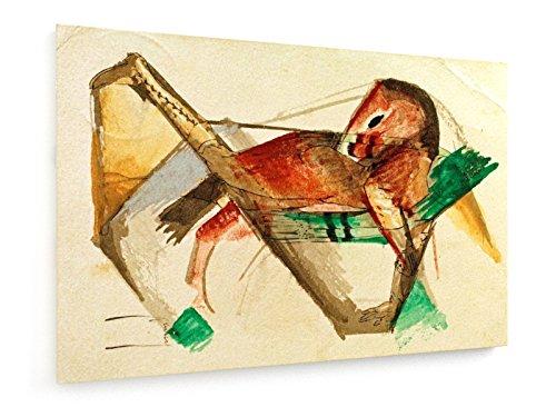 franz-marc-pequeo-caballo-en-rosa-fresca-75x50-cm-weewado-impresiones-sobre-lienzo-muro-de-arte-anti